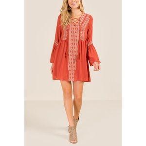 Francesca's Miami Allison Embroidered Shift Dress